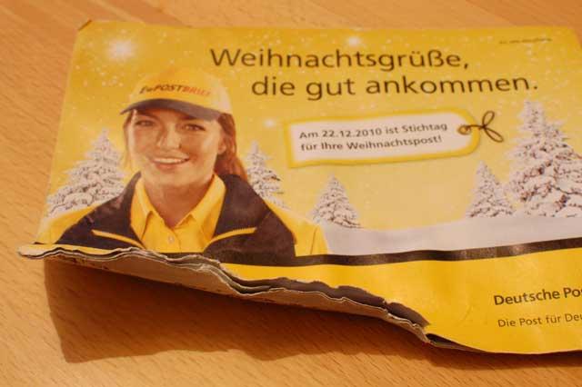 Weihnachtsgrüße Per Post.Misslungene Dienstleistungen Der Deutschen Post Weihnachtsgrüße